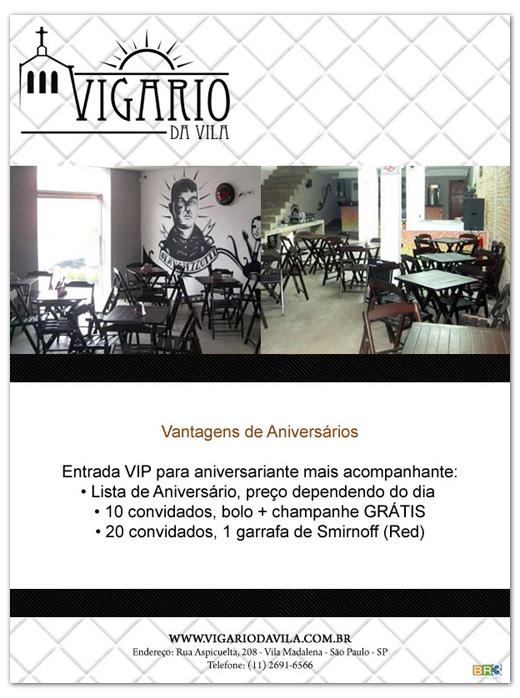 E-mail marketing de aniversário Vigário da Vila