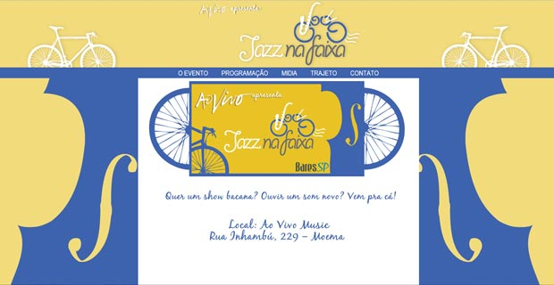 Jazz na Faixa - Site Br3 Site sites cases image