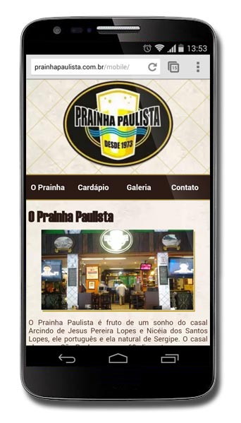 Prainha Paulista - Site Mobile Br3 Site sites cases image