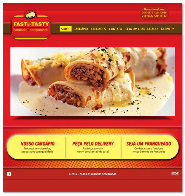 Proposta para site da rede Fast & Tasty Br3 Site sites cases image