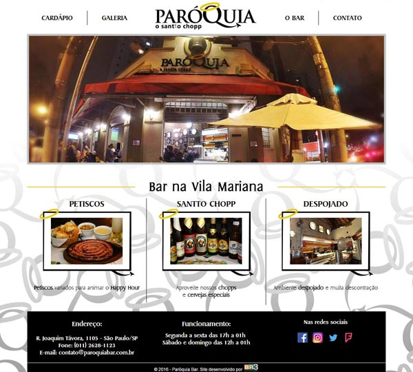 Site Paróquia Bar