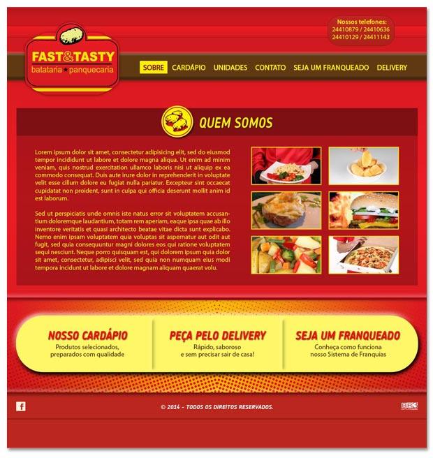 Proposta para site da rede Fast & Tasty