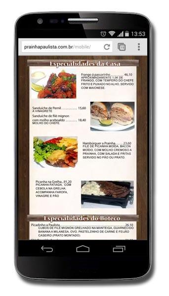Prainha Paulista - Site Mobile