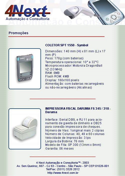 E-mail marketing Promoções 4Next