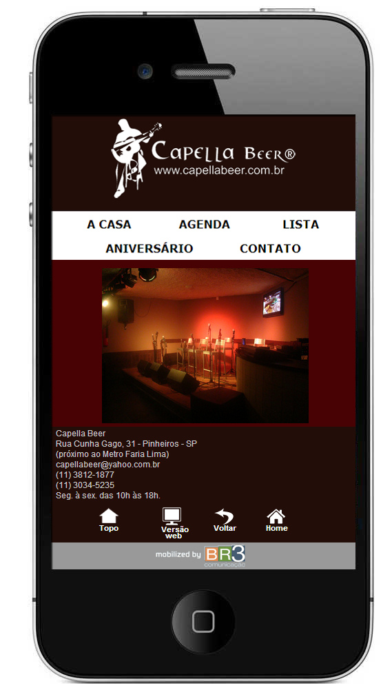 Site Mobile Cappela Beer