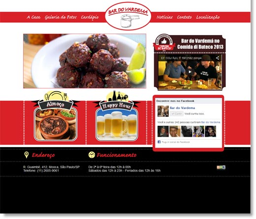 Site - Bar do Vardema