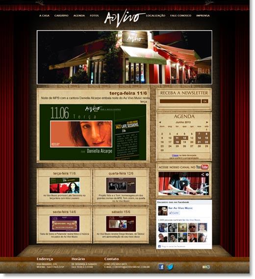 Site do Bar Ao Vivo