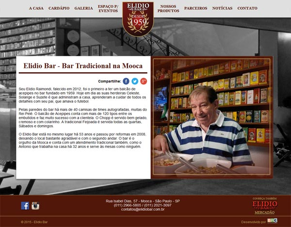 Novo Site Elidio Bar 2015-2016
