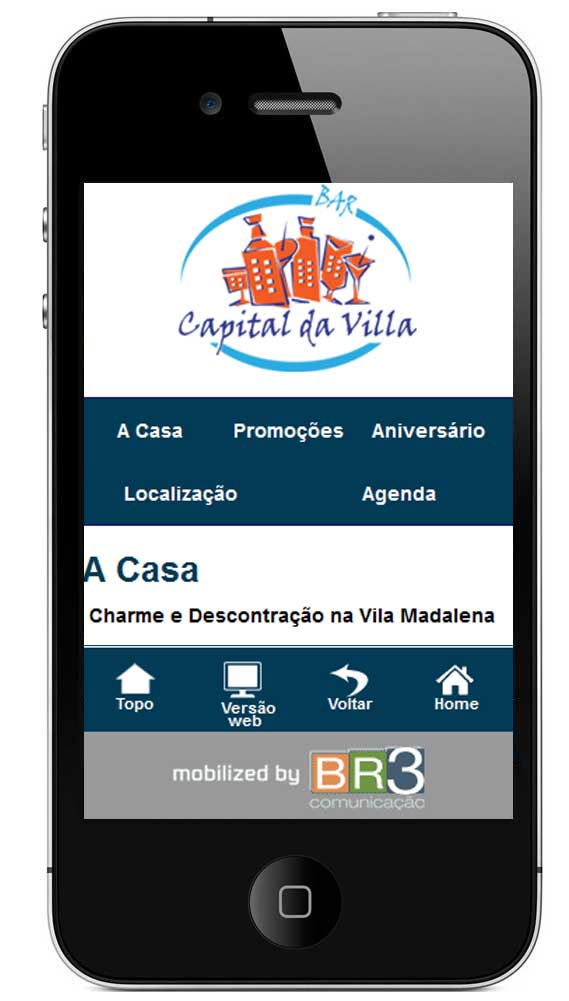 Site Mobile Capital da Villa