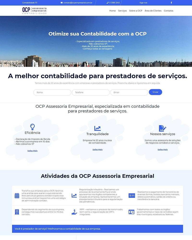 Site OCP empresarial