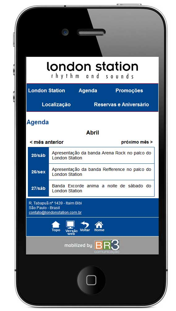 Site Mobile London Station
