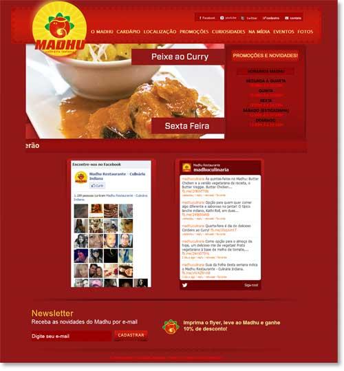 Site - Madhu Restaurante