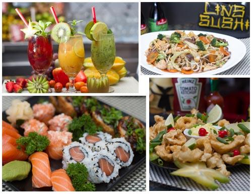 Fotos profissionais tiradas para o Lins Sushi