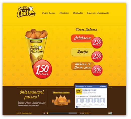 Site Coxinha du Chef