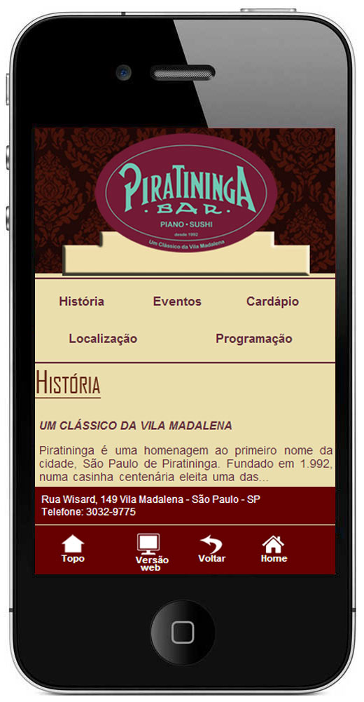 Site Mobile Piratininga Bar Br3 Site sites cases image