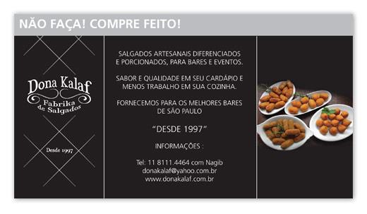 Anúncio Dona Kalaf Gastronomia