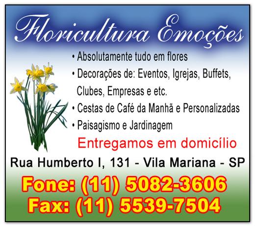 Anúncios Floricultura Emoções
