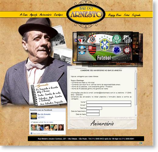 Site - Bar do Arnesto