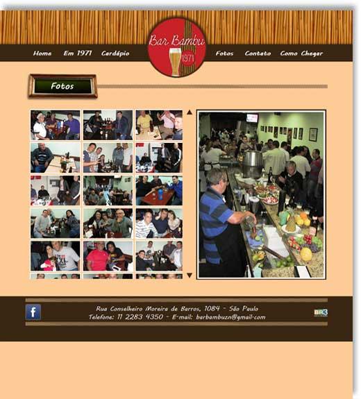 Layout do site Bar Bambu