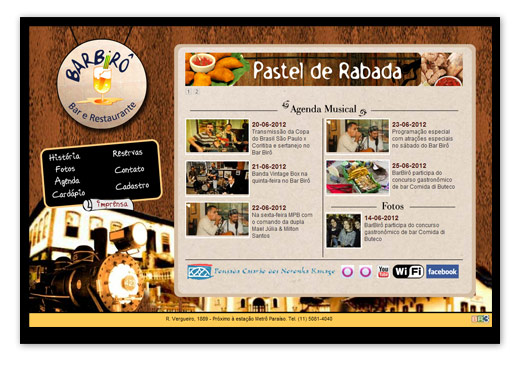 Site Barbirô Bar e Restaurante. Br3 Site sites cases image