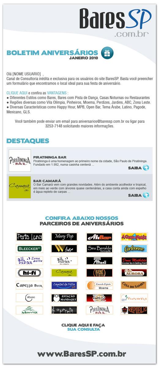 E-mail Boletim de Aniversários BaresSP Br3 Site sites cases image
