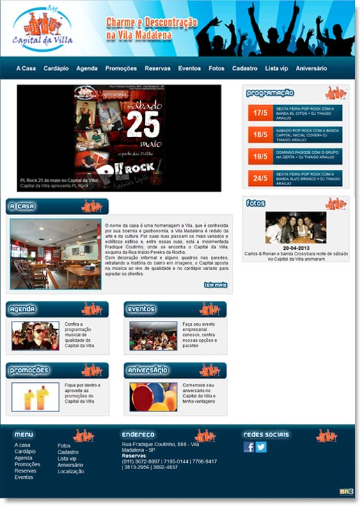 Site institucional do Capital da Villa Br3 Site sites cases image