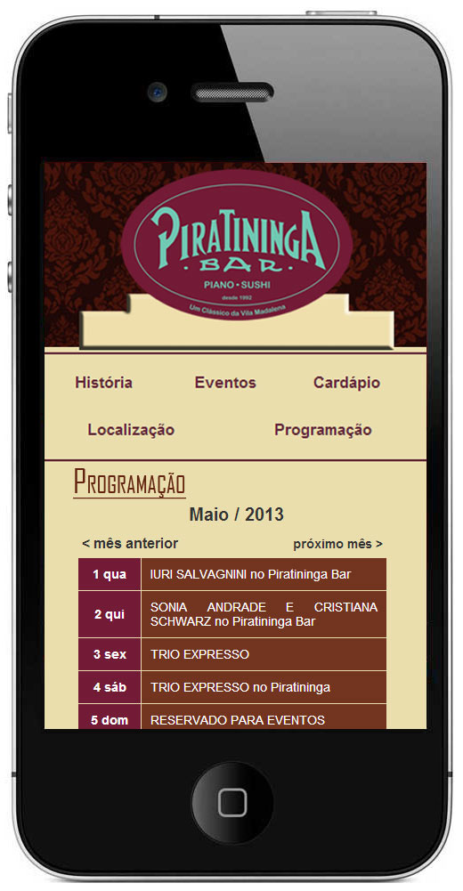 Site Mobile Piratininga Bar