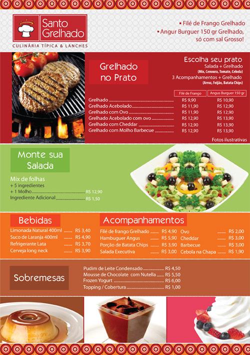 Cardápio A4 - Santo Grelhado Br3 Site sites cases image