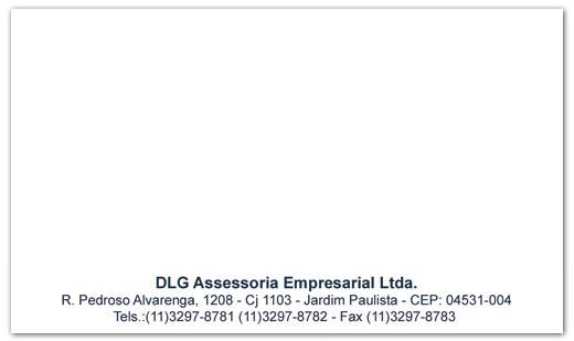 Cartões de Visita DLG Assessoria Empresarial