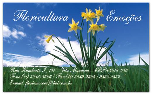 Cartão de visitas Floricultura Emoções