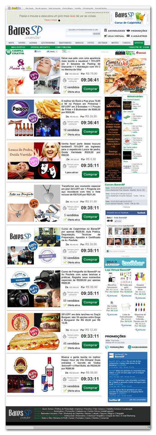 Sistema de Compras Coletivas BaresSP Br3 Site sites cases image