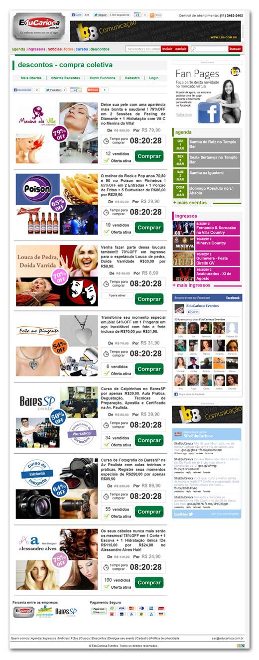Sistema de Compra Coletiva EduCarioca Br3 Site sites cases image