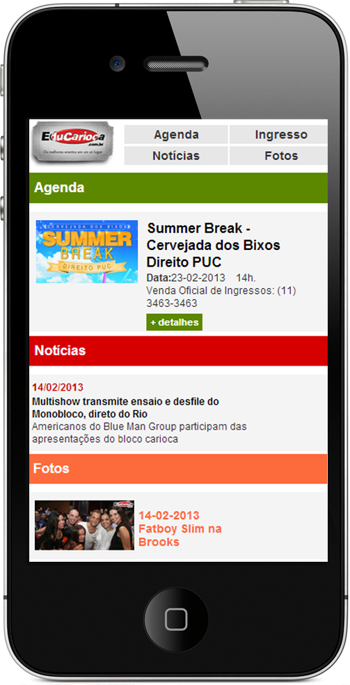 Site Mobile - Edu Carioca Br3 Site sites cases image