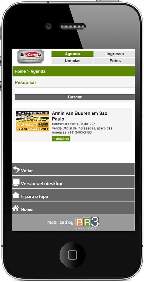 Site Mobile - Edu Carioca