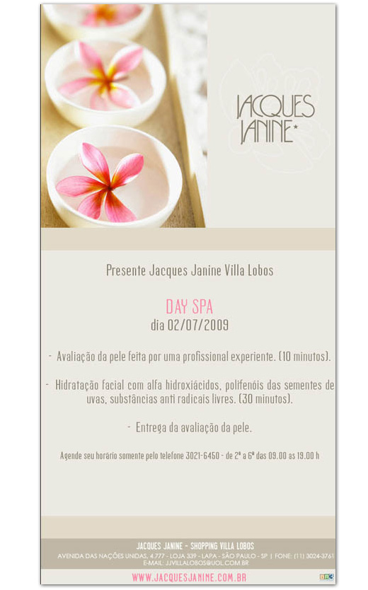 E-mail marketing Jacques Janine - Day Spa Br3 Site sites cases image
