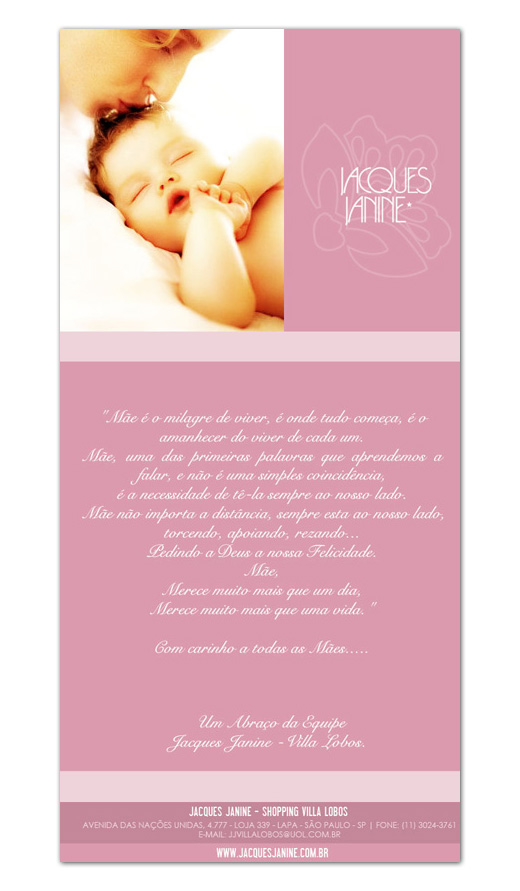 E-mail marketing Jacques Janine - Dia das Mães