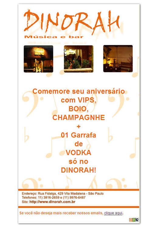 E-mail marketing de aniversário - Dinorah