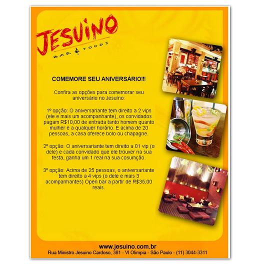 E-mail marketing de aniversário Jesuíno Bar