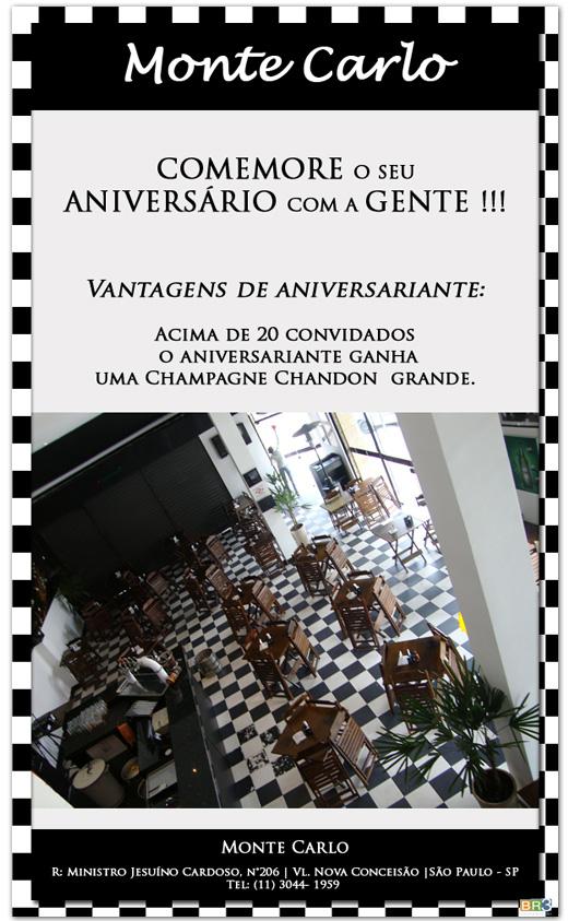 E-mail marketing de aniversário Monte Carlo