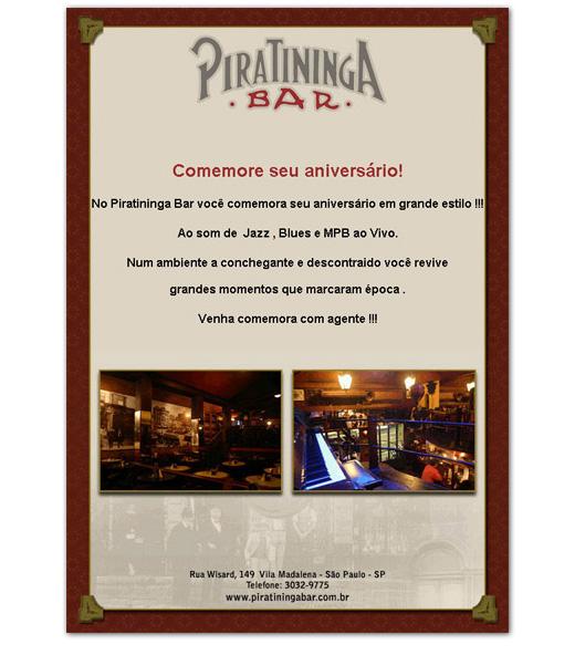 E-mail marketing de aniversário Piratininga.