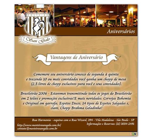 E-mail marketing Mosteiro San Galo - Aniversário