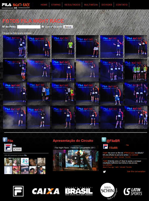 Galeria de fotos do site Fila Night Race Br3 Site sites cases image