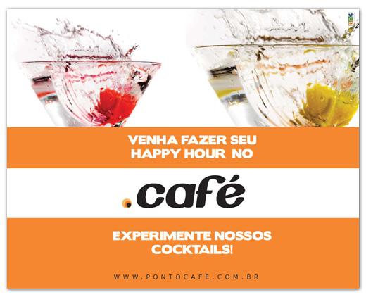 Flyers de divulgação Ponto Café
