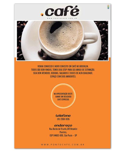 Flyer de inauguração Ponto Café
