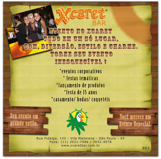 Flyer Eventos Xcaret Bar