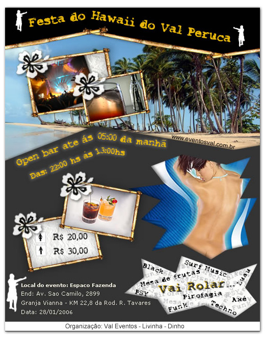 Flyers - Evento Hawaii