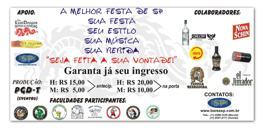 Flyers - Evento Sua Festa Br3 Site sites cases image