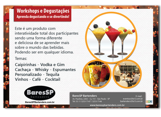 Flyer de Workshop BaresSP Bartenders