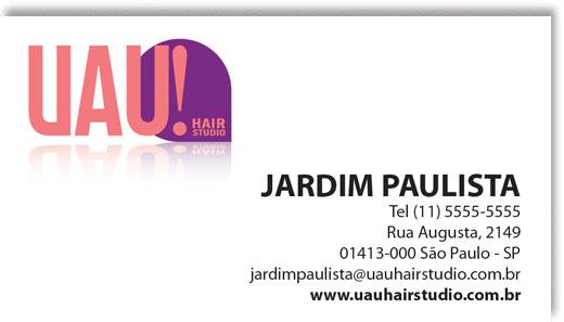 Cartão de visita UAU! Hair Studio Br3 Site sites cases image