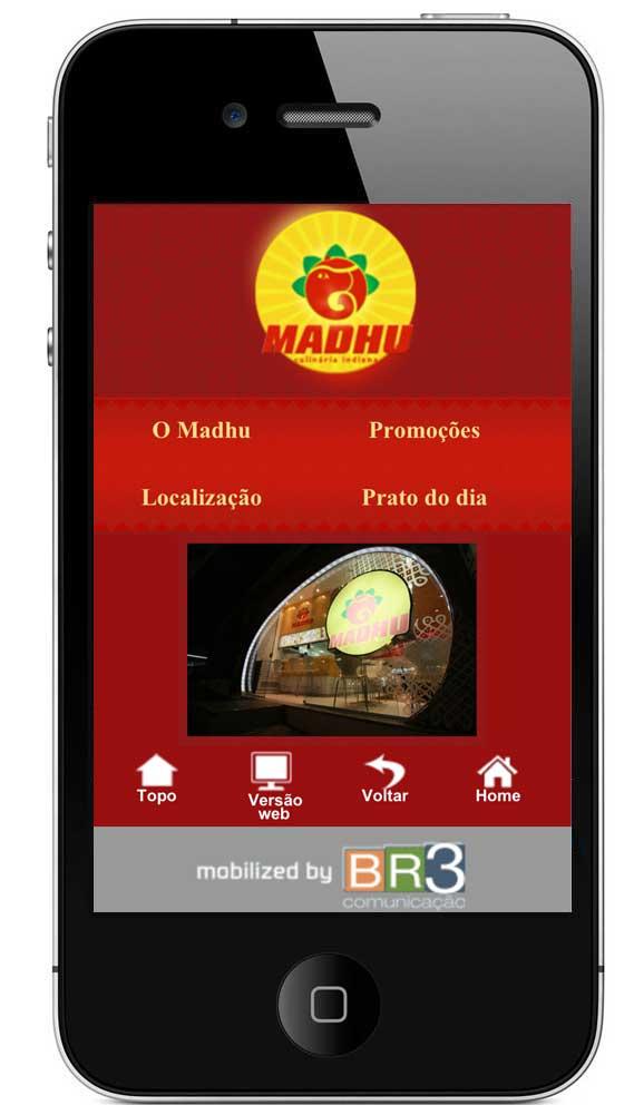 Site Mobile Madhu Restaurante